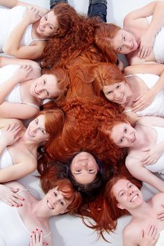 Varying shades of being a ginger. lingerie, dna, colors, blondes, redhead, gingers, families, redhair, shades of red hair