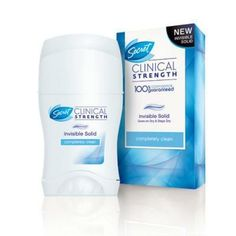 Secret Clinical Strength Invisible Solid antiperspirant BNIB 1.6 oz