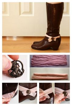 Boot Scarf /  14 DIY Boots That Were Made For Walking (via BuzzFeed)