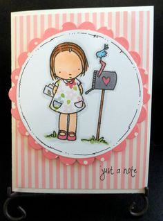 Greeting Card Handmade Just A Note by requirespostage on Etsy, $4.00