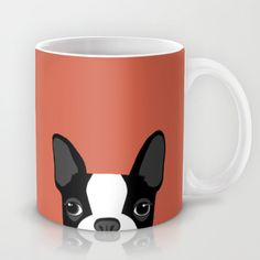 Boston Terrier Mug by Anne Was Here - $15.00