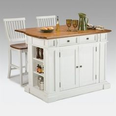 Cute kitchen island - and it looks compact enough to put into a rental kitchen.