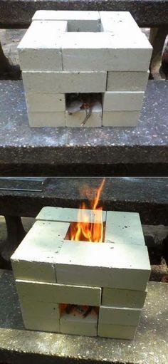 Alternative Gardning: How to Make a 16 Brick Rocket Stove