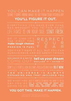 A Credo For Making It Happen