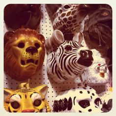 I found these at Lipmans / Portland. Kiddies would love for play but i thought: wall assemblage.