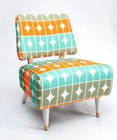 Want! - Funky Retro Slipper Chair by MsGreenDesigns on Etsy, $385.00