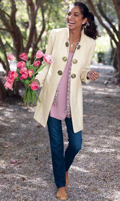 fashion, cloth, jacquelin jacket, spring coat, soft surroundings, jackets, classic style, classic chic, coats