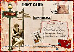 Ozstuff Online - The Three Muses Challenge - Mail Art - Bon Voyage
