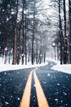 Beautiful snow falli