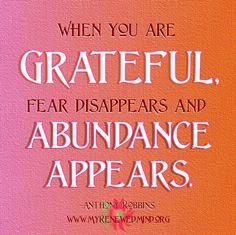 Abundance. Gratitude.