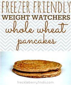 Freezer Friendly Weight Watchers Whole Wheat Pancake #Recipe. Only 2 PointsPlus per pancake!