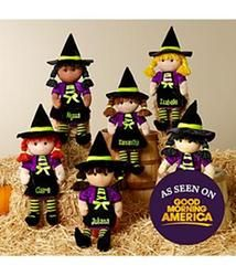 Personalized Halloween Witch Rag Doll
