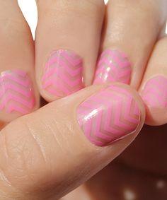 Pink Mini Chevron Nail Wraps