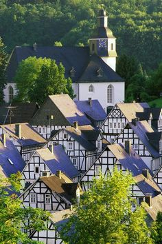 A beautiful half-timbered houses in Freudenberg, Germany