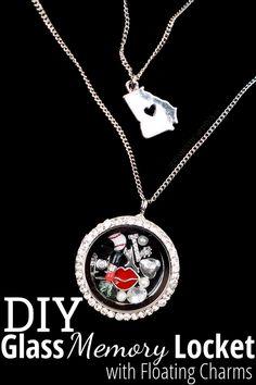 float charm, glass memori, diy crafts, famili, memori locket, craft tutorials