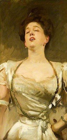"""John Singer Sargent: """" Mrs. George Batten Singing"""", 1895"""