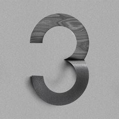 Nice idea for wall numbers. - Metal and Wood?