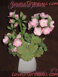 Geranium flower making tutorial gumpaste flower tutorial
