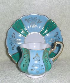 Wales China Cup & Saucer Hand Painted, Vintage