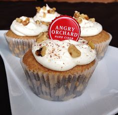 Great cupcake recipe from an AO fan - Secrets of a Condo Cook: Cinnful Cidercakes #cupcakes #AngryOrchard