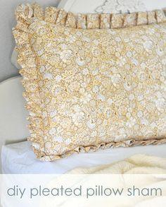 DIY pleated pillow sham