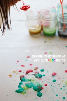 DIY: watercolor bubble art