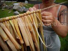 How To Make a Cattail Mat by www.WoodlandIndianEDU.com