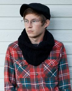 Men Sporting Crochet Cowls