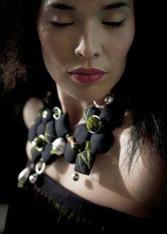 design-dautore.com: Nadia Dafri fabric jewelry designer
