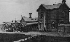 Gawler Train Station, 1910 #Gawler #SouthAustralia