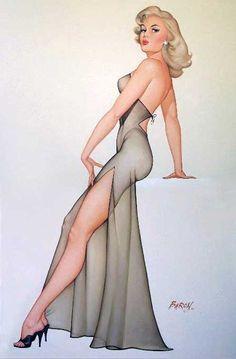 Baron von Lind   Classic Pin-Up girl #PinUps #Girls #USA #deFharo #Vintage #Posters #Retro #40s #50s