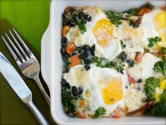 Spinach Tomato Egg Bake. Brunch idea for Mother's Day