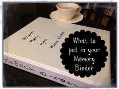memory work binder, how to work on memorizing stuff every day