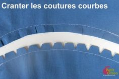 cranter les coutures courbes