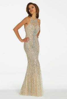 Illusion Halter dress from Camille La Vie and Group USA #homecoming #prom