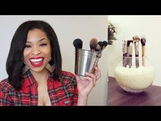 How I Care for my Makeup Brushes + DIY Storage Idea!