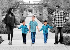 Family of five photo! Hate the color contrast but love the photo