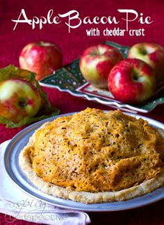 Apple and Bacon Pie with Cheddar Crust | ASpicyPerspective.com #recipe #applepie #holiday