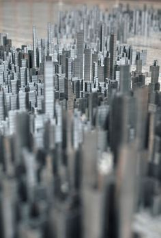holy cow!    Ephemicropolis: A City of Staples by Peter Root » Man Made DIY | Crafts for Men « Keywords: art, sculpture, installation, staples
