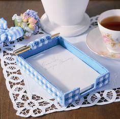 Plastic canvas notepad holders| Pencil Holder patterns | Pen Holder patterns