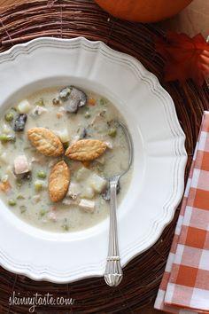 Turkey Pot Pie Soup | Skinnytaste