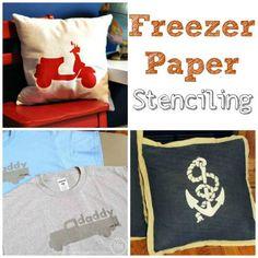 Stenciling with Freezer Paper