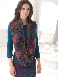 Free Knitting Pattern: Modular Cowl Lion Brand® Unique Pattern #: L32292