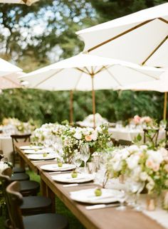 #tablescapes alfresco dining at its best | Photography by sylviegilphotography.com, Florals by http://www.maxgilldesign.com, Design and Styling by http://www.rebeccareategui.com  Read more - http://www.stylemepretty.com/2013/09/12/santa-rosa-wedding-from-sylvie-gil-photography/