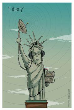 """""""Liberty"""" #cartoon"""