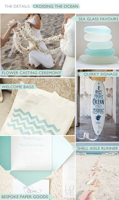 Crossing the Ocean Bridal Inspiration Board by by www.pocketfulofdreams.co.uk