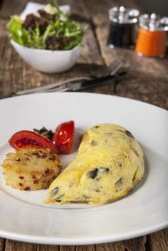Loving La Gourmandise Breakfast du jour Spanish Omelet, hash browns and a delicious side salad.