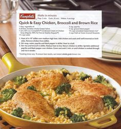 One of my favorite quick dinners: Chicken Broccoli and Rice skillet recipe