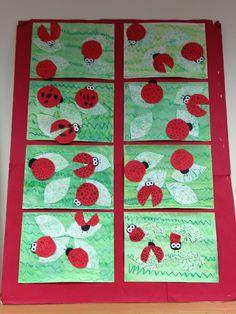 Apex Elementary Art: lady bugs first grade