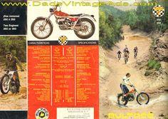 1972 Bultaco Sherpa T 350  250 motorcycle Brochure